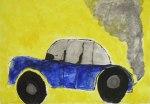 Das blaue Auto